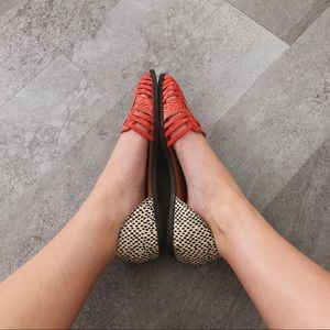 Roolee Shoes - boutique || coral + leopard flats